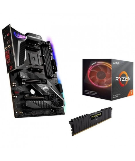 Pack AMD Ryzen 7 3700X Wraith Prism cooler + MSI MPG X570 GAMING PRO CARBON WIFI  + 16Go (2x8) DDR4 3200MHz