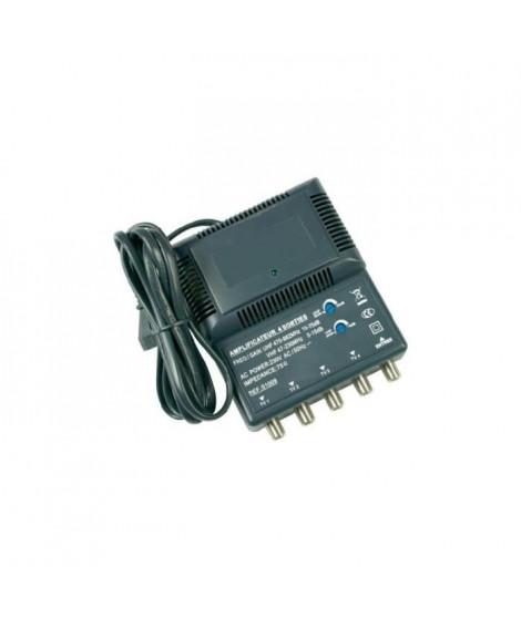 OPTEX 051009  Amplificateur intérieur blindé 4 sorties - Noir