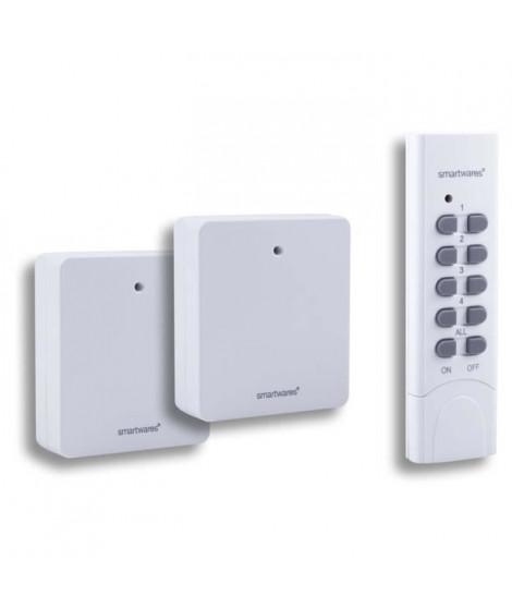 SMARTWARES Pack Smarthome 2 prises sans fil avec télécommande 4 canaux