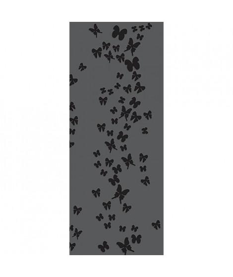 PLAGE Panneau en intissé Panoramique - Envol de papillons taupe240x98cm