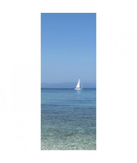 PLAGE Panneau en intissé Panoramique - Voilier240x98cm