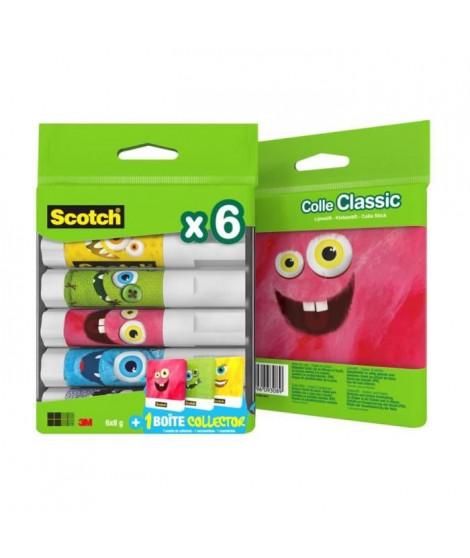 SCOTCH Lot de 6 Bâtons de colle - Boîte Collector Monstres - 8g