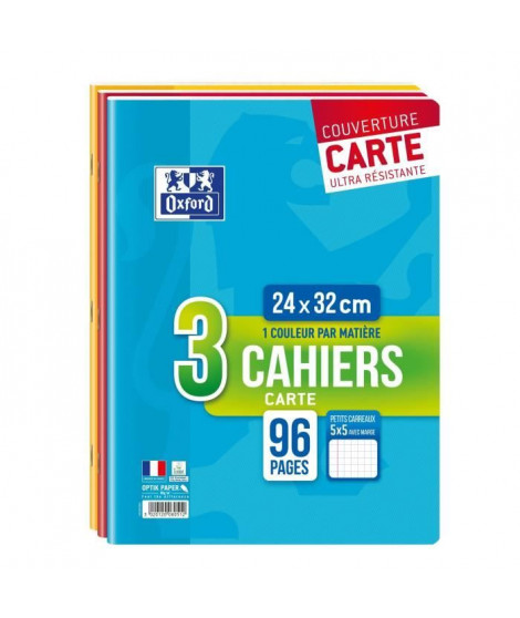 OXFORD Lot de 3 Cahiers - A4 - 24x32cm - 96p