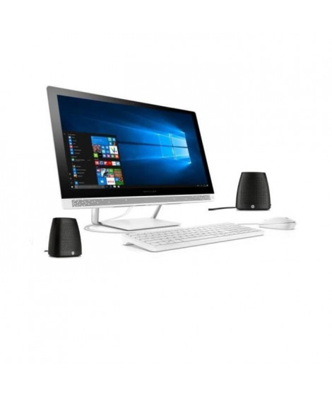 "HP PC Pavilion Tout en un - 24""- 24b230nf-RAM 8Go- Windows 10- Intel Cote I5- Intel HD- Disque dur 2 To + SSD 128GB + enceintes"
