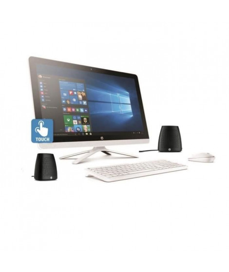 "HP PC tout en un tactile 24""- 24g006nf - 4Go de RAM- Windows 10- Intel Core I5- Intel HD- Disque dur 1To + enceintes"