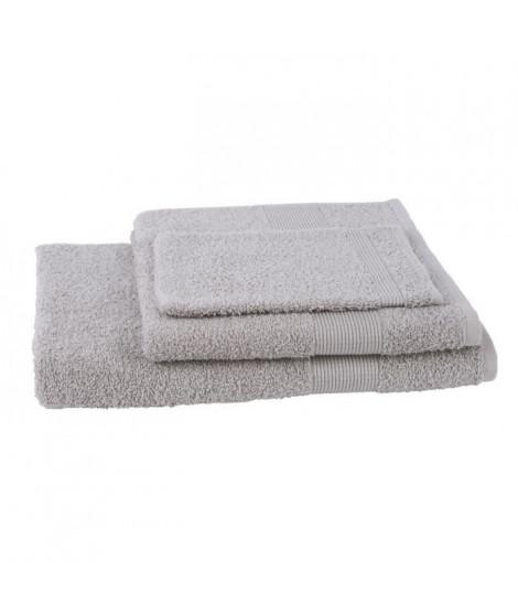 JULES CLARYSSE Lot de 1 serviette + 1 drap de bain + 1 gant de toilette Viva - Sable
