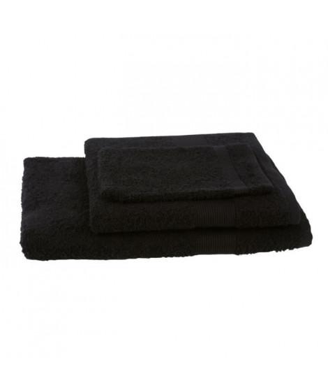 JULES CLARYSSE Lot de 1 serviette + 1 drap de bain + 1 gant de toilette Viva - Noir