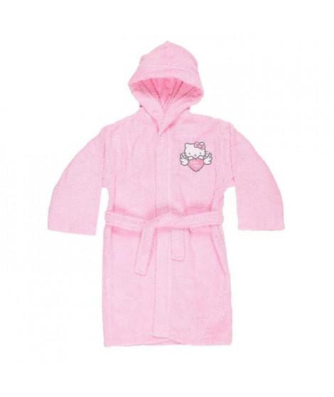 Peignoir Hello Kitty  100% coton - 6 / 8 ans - Rose