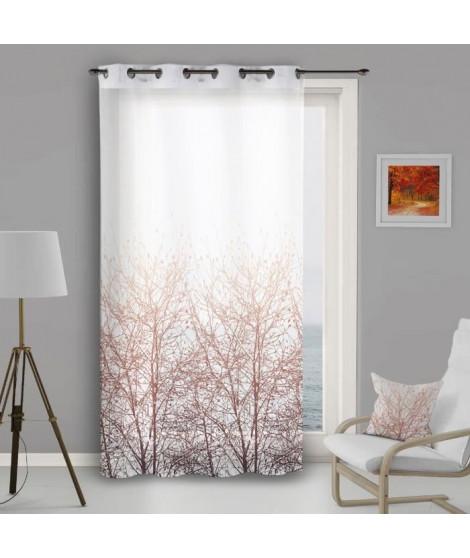 SUCRE D'OCRE Voile a oeillets FOREST - 140x250cm - Polyester Marron
