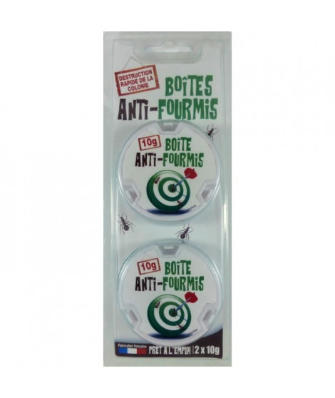NONA Lot de 2 boites anti-fourmis - 10 g