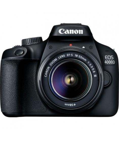 CANON EOS 4000D 18 mégapixels - Wi-Fi + Objectif EF-S 18-55 III