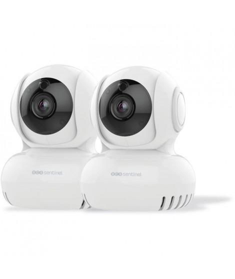 SCS SENTINEL Lot de 2 caméras intérieures motorisées - WifiEye HD Rotative