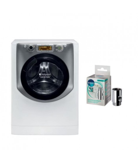 Pack HOTPOINT Lave linge frontal AQ113D69FR + WPRO MWC014 - Anti-calcaire magnétique