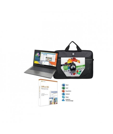 "PC Portable - LENOVO Ideapad 330-15AST - 15,6""HD - AMD A4-9125 - RAM 4Go - HDD 1To + Sacoche + Souris + Office 365 Personnel"