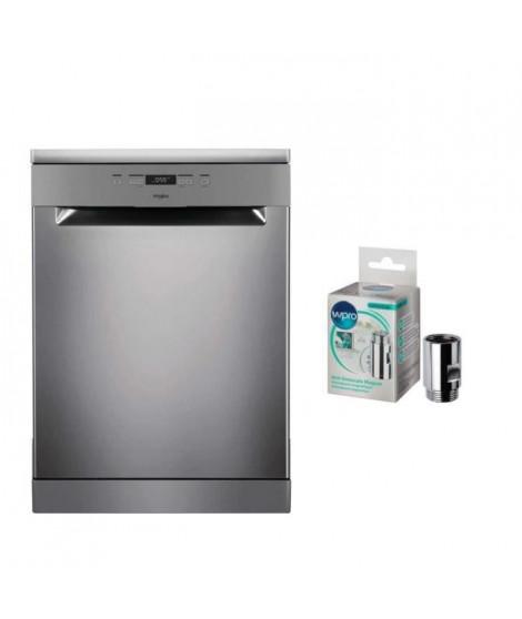 Pack WHIRLPOOL OWFC3C26X - Lave-vaisselle posable -14 couverts - 46 dB-A++ - L 60 cm + WPRO MWC014 - Anti-calcaire magnétique