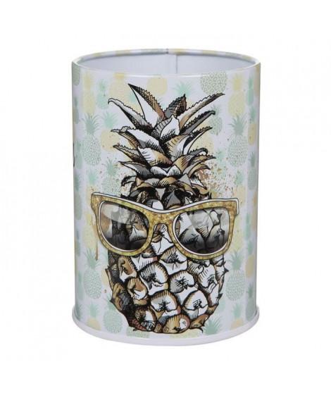 PIERRE HENRY Pot a crayons en métal - Décor ananas