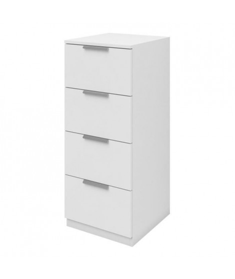 BILLUND Chiffonnier 4 tiroirs 40cm blanc