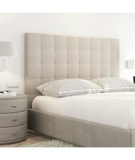 SOGNO Tete de lit capitonnée style contemporain - Tissu beige - L 140 cm