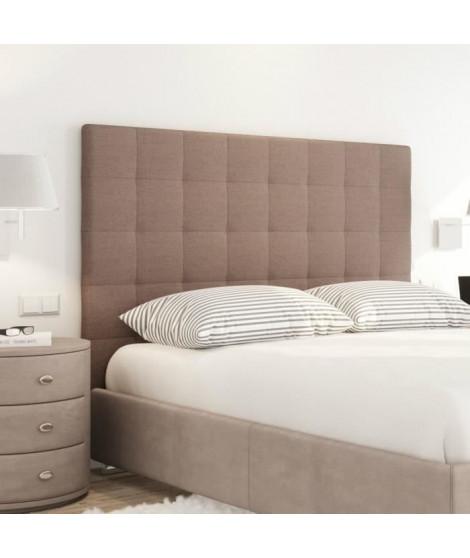 SOGNO Tete de lit capitonnée style contemporain - Tissu marron - L 140 cm