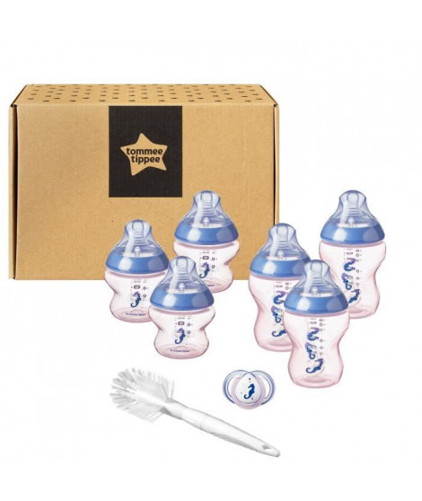 TOMMEE TIPPEE Starter Kit de Naissance biberons Closer to Nature - rose