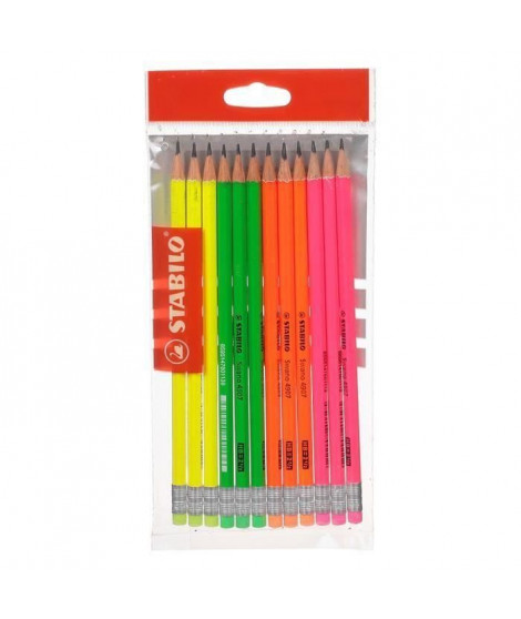 STABILO Ecopack x 12 crayons graphite Grafito HB bout gomme (Lot de 3)