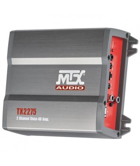MTX Amplificateur TX2275 2 x 110 W Rms @2O ou 1 x 220 W Rms @4O Classe-AB Filtre Actif Variable Entrées Haut Niveau