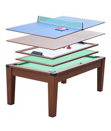 DEVESSPORT - Table Multi-Jeux 5 en 1