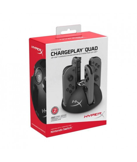 HyperX ChargePlay Quad Chargeur pour Joycons Nintendo Switch