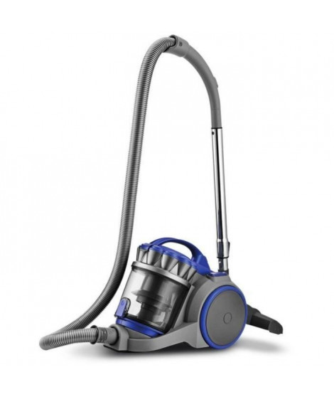 HARPER - RAPTOR_GREY+BLUE - Aspirateur sans sac Multi-Cyclonique - Classe A - 800W - 3L - Gris + Bleu