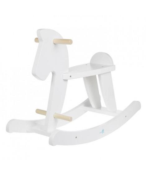 HANGZHOU TOYS - Cheval a bascule blanc - en bois