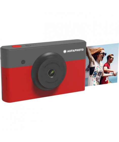 "AGFA AMS23RD Mini Appareil photo imprimante 2en1 - 2*3"" - Rouge"
