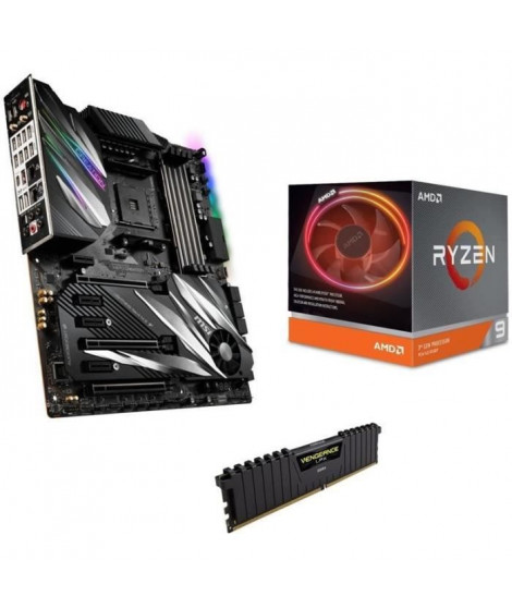 Pack AMD Ryzen 9 3900X Wraith Prism cooler + MSI PRESTIGE X570 CREATION + 16Go (2x8) DDR4 3200MHz