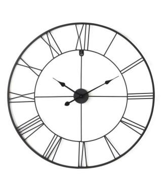 Horloge ronde - Métal - Ø 80 x épaisseur 3,5 cm - Noir