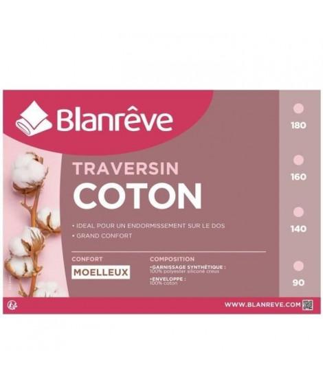 BLANREVE Traversin en coton - 180 cm - Blanc