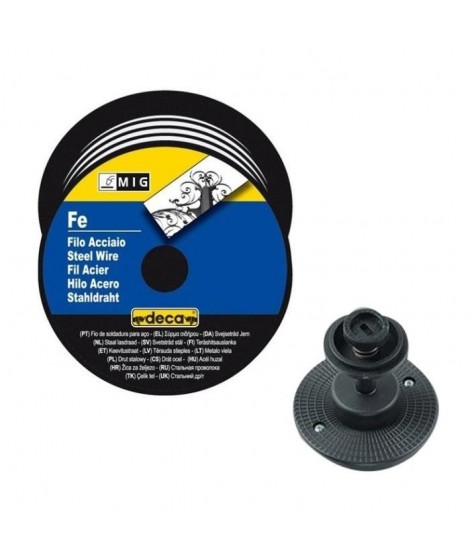 DECA Bobine fil acier pour soudure MIG/MAG 0,6mm 5kg avec adaptateur
