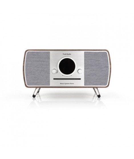 Tivoli Music System Home - Systeme HiFi - CD, Bluetooth, WiFi, AM, FM, DAB/DAB+ ART line - Noyer et gris