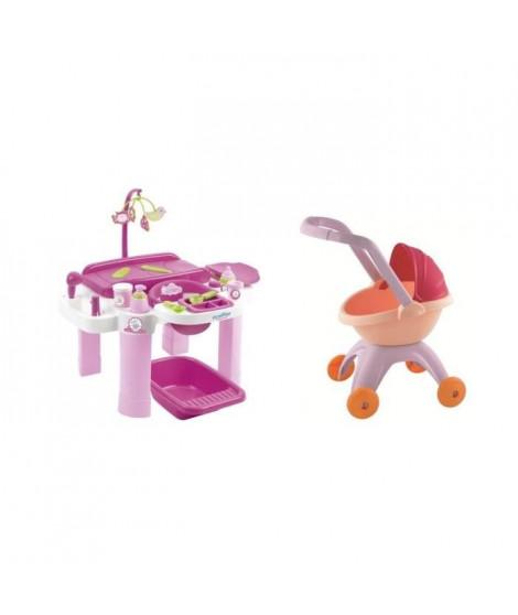 Ecoiffier Pack Nursery + landau