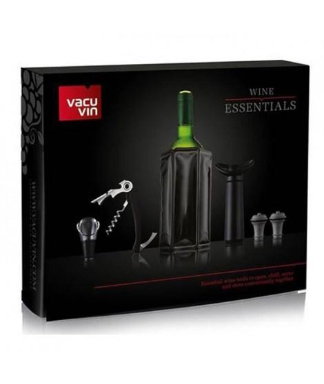 Vacu Vin Coffret accessoires vin Essentiels - Noir
