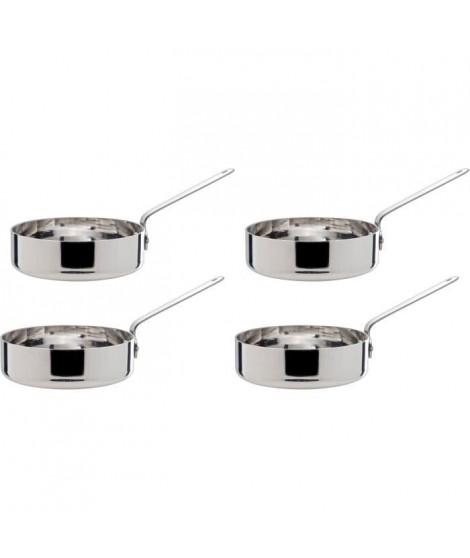 COSY&TRENDY 8315881 Set de 4 petites pôeles a frire acier inoxydable D12Cm