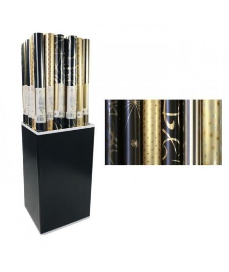 CLAIREFONTAINE Rouleau papier cadeau Premium - 2 x 0,7 m - 80 g / m² - 6 motifs assortis sous film (Lot de 3)