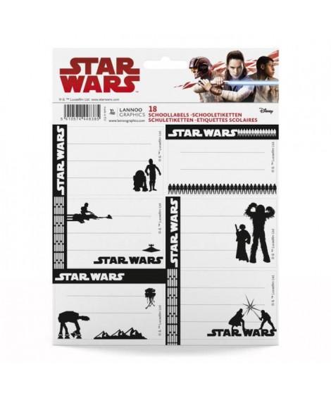 STAR WARS CLASSIC Pochette de 18 étiquettes scolaires - Mix (Lot de 3)