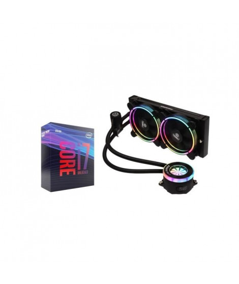 Pack Processeur Intel Core i7 9700K + Watercooling Enermax Liqfusion 240 RGB (2x120mm)