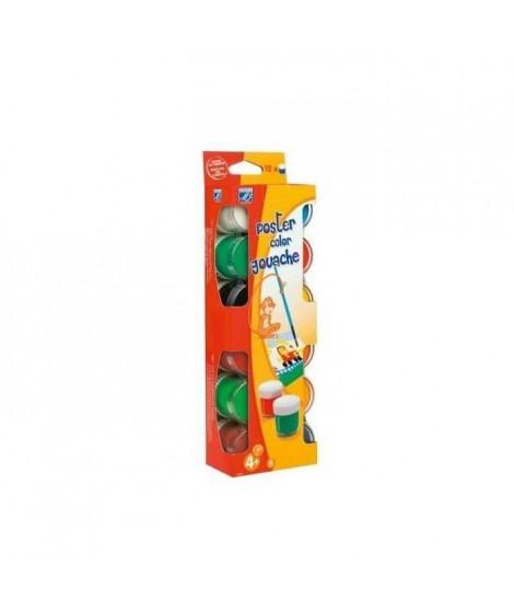 LEFRANC & BOURGEOIS Assortiment Pots gouache - Boîte carton 12x22ml (Lot de 2)
