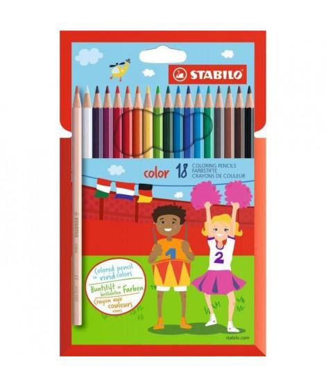 STABILO 18 crayons de couleur STABILO Color (Lot de 3)