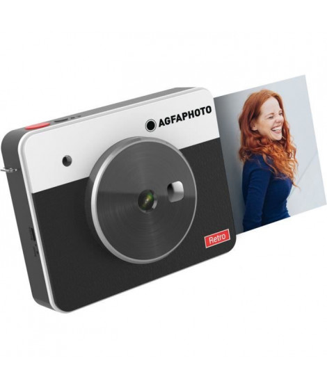 "AGFA ASQS33BK Mini Appareil photo imprimante Realipix Square S - 2en1 - 3*3"" - Noir"