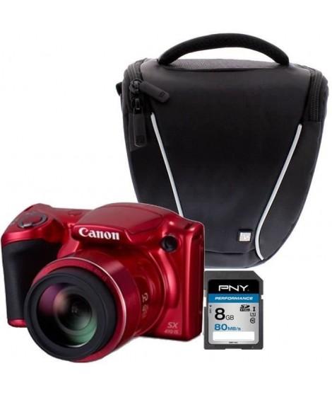 Canon PowerShot SX410 IS Rouge + Sacoche + Carte 8 Go