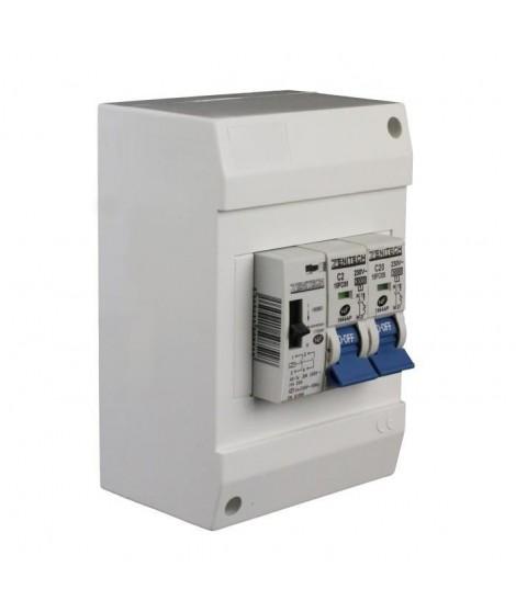 ZENITECH Coffret chauffe-eau pré-équipé muni d'un disjoncteur 2A+20A et 1 contacteur jour/nuit