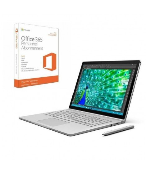 Surface Book 256 Go + Office 365 Personnel
