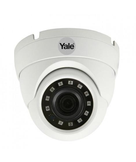 YALE Caméra Dôme Analogique HD - 1080p - Pour Systeme de Vidéosurveillance Intérieur/Extérieur (IP67) - Lentille 3,6 mm