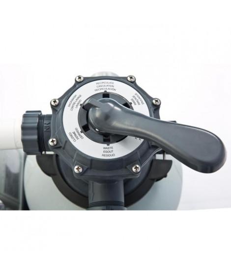 INTEX Combine filtre sable 6m³/h avec ecostérilisateur au sel et oeC
